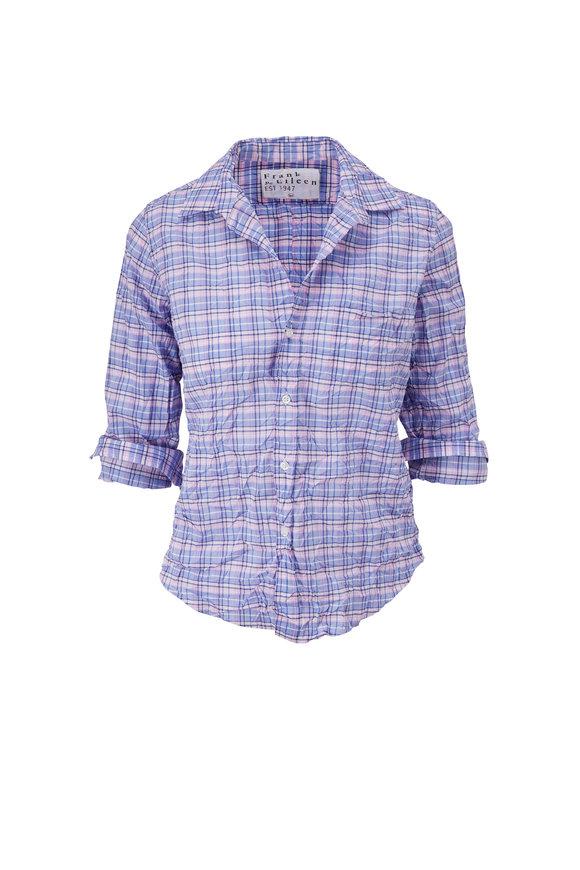 Frank & Eileen Barry Blue Plaid Button Down Shirt