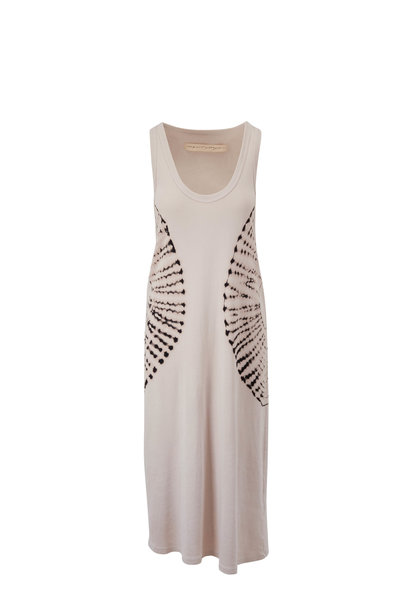 Raquel Allegra - White & Black Baby Rib Tank Dress