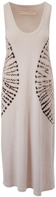 Raquel Allegra White & Black Baby Rib Tank Dress