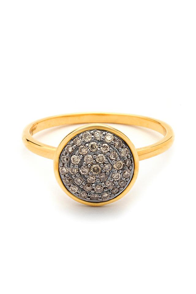 Champagne Diamond Chakra Ring