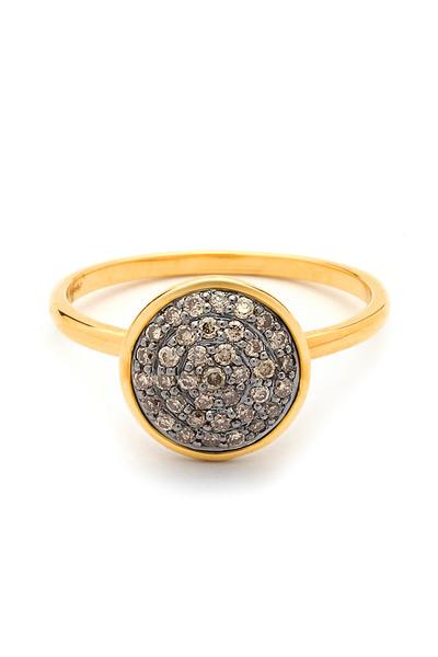 Syna - Champagne Diamond Chakra Ring