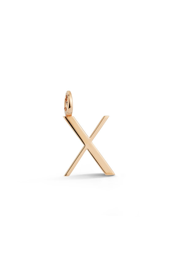 "Walters Faith 18K Rose Gold Woolf Initial ""X"" Charm"