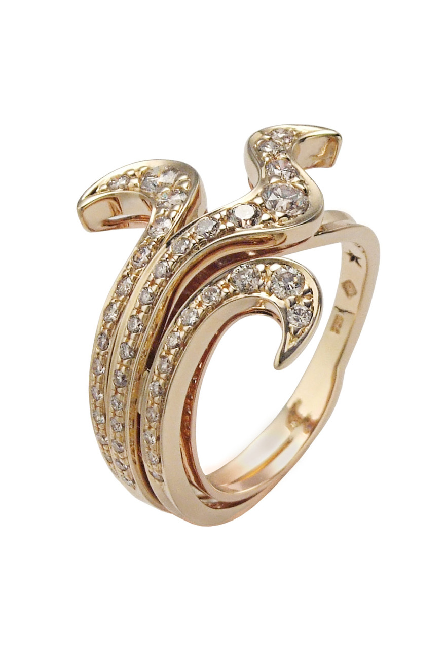 Iris Yellow Gold Diamond Ring