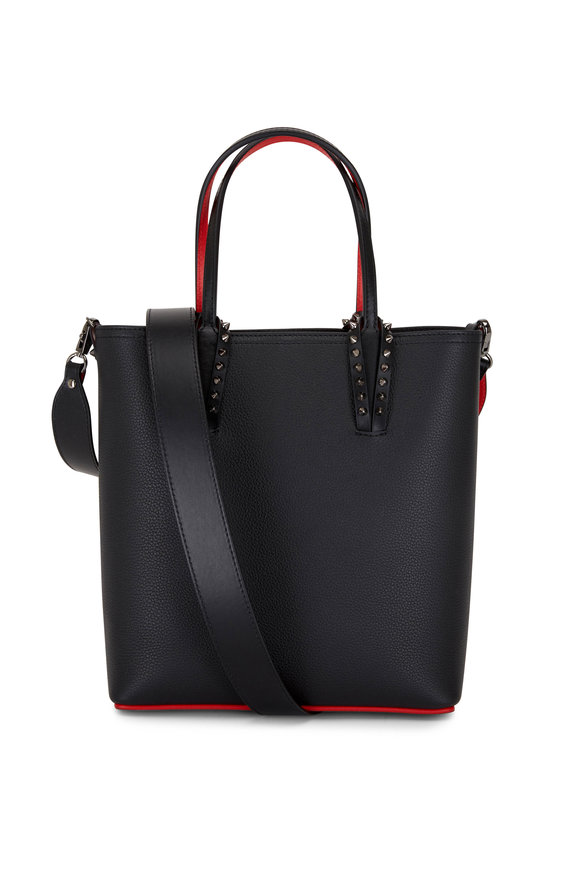 Christian Louboutin Cabata N/S Black Leather Mini Crossbody Tote