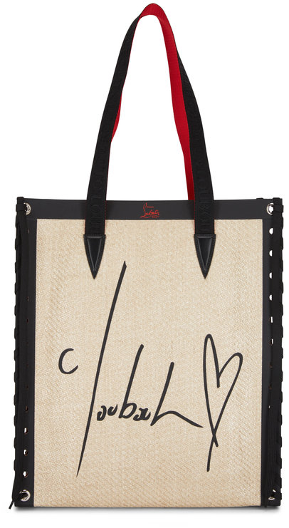 Christian Louboutin Cabalace Natural All You Need Is Red Small Tote