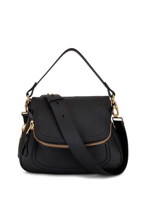 Tom Ford Jennifer Black Leather Medium Shoulder Bag