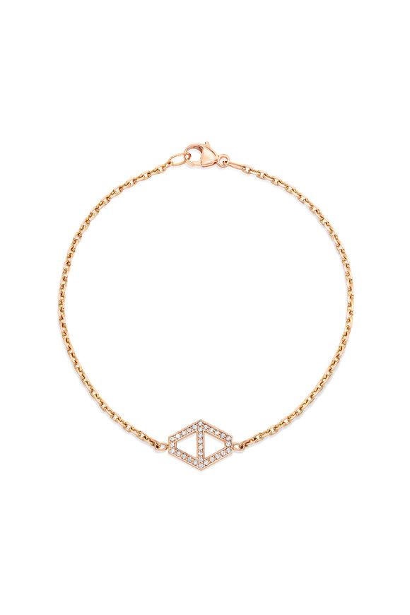 Walters Faith 18K Rose Gold Medium Signature Hexagon Bracelet