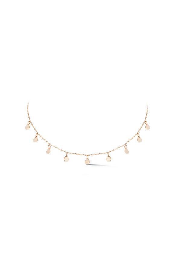 Walters Faith 18K Rose Gold Dora Mini Hexagon Charms Necklace
