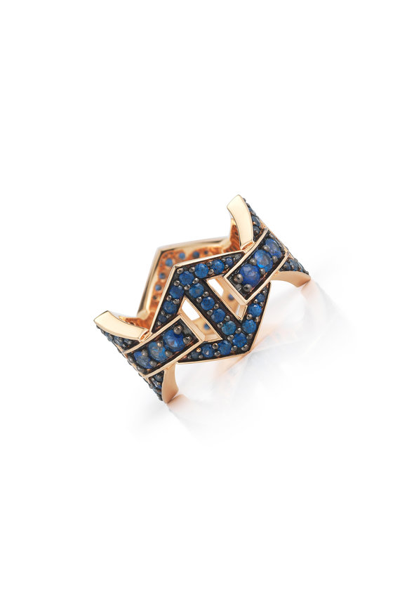 Walters Faith 18K Rose Gold Keynes Sapphire Hexagon Ring