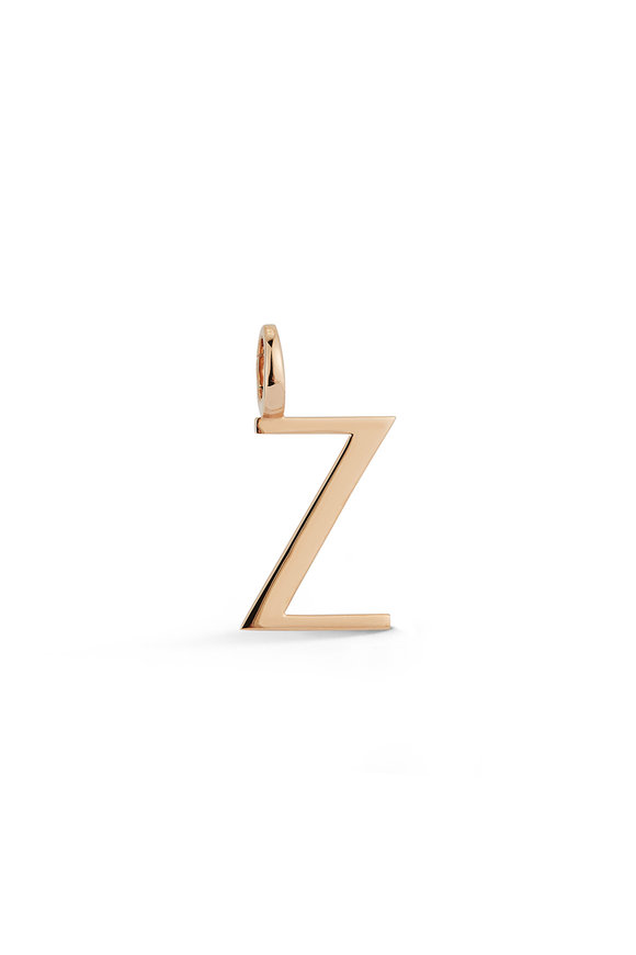 "Walters Faith Rose Gold Woolf Initial ""Z"" Charm"