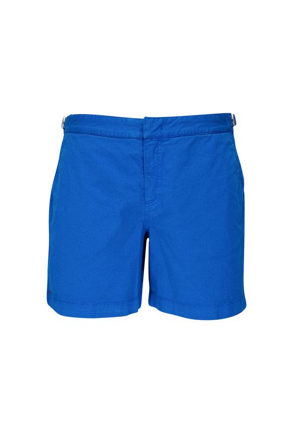 Orlebar Brown Bulldog Skydiver Blue Twill Shorts