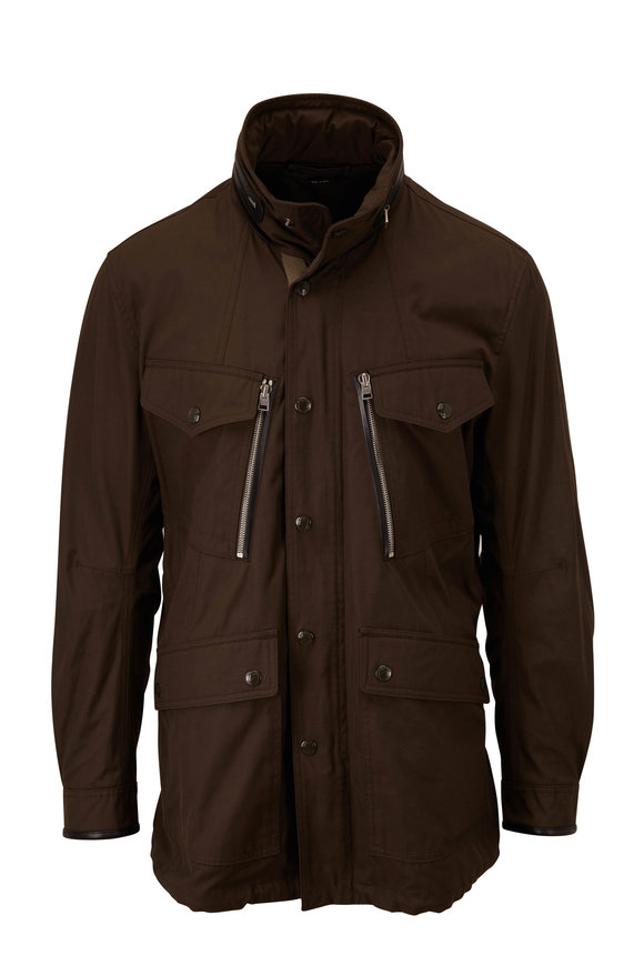 Tom Ford Olive Canvas Field Jacket