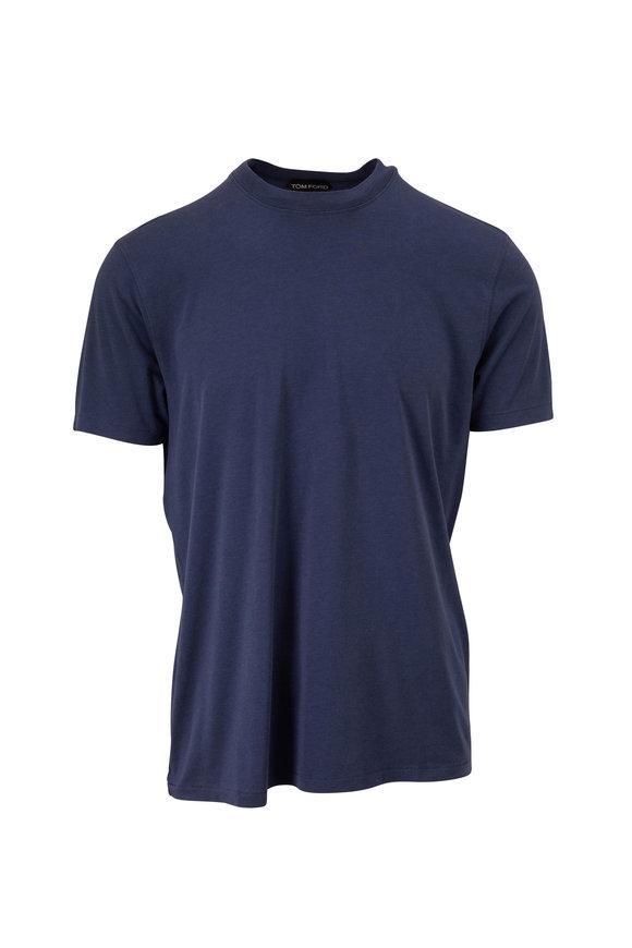 Tom Ford Blue Jersey Short Sleeve T-Shirt