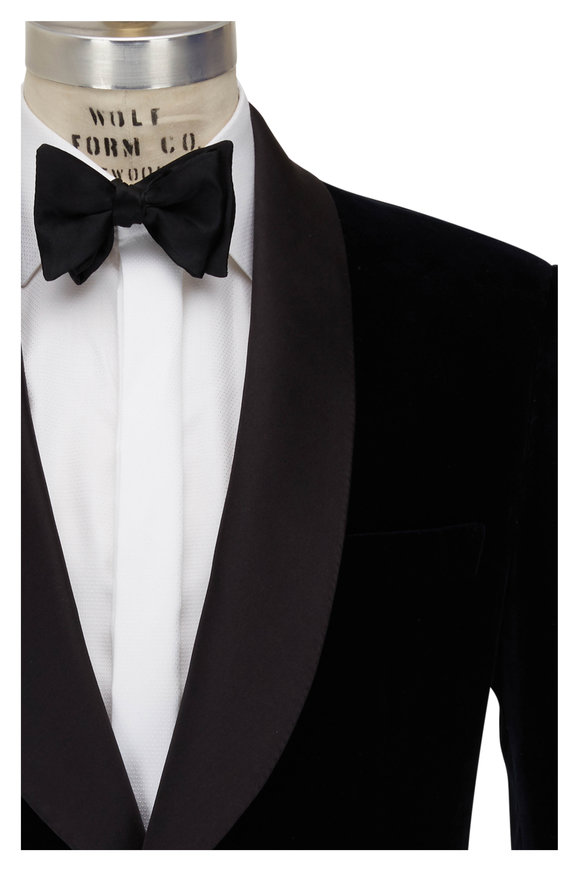 Brioni Navy Velvet Dinner Jacket