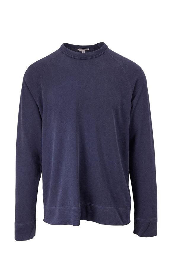 James Perse Vintage Blue Raglan Sleeve T-Shirt