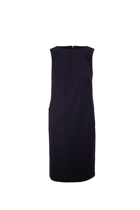 Bogner Avea Fashion Navy Cotton Stretch Sleeveless Dress
