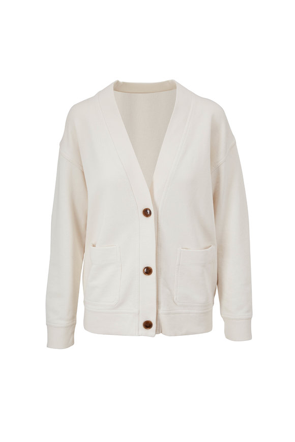Vince Bone French Terry Oversize Cardigan