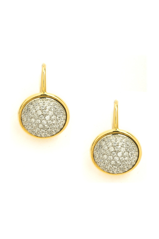 Baubles Yellow Gold Pavé-Set Diamond Earrings