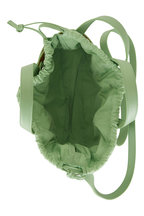 Bottega Veneta - The Shell Pistachio Leather Mini Basket Bag