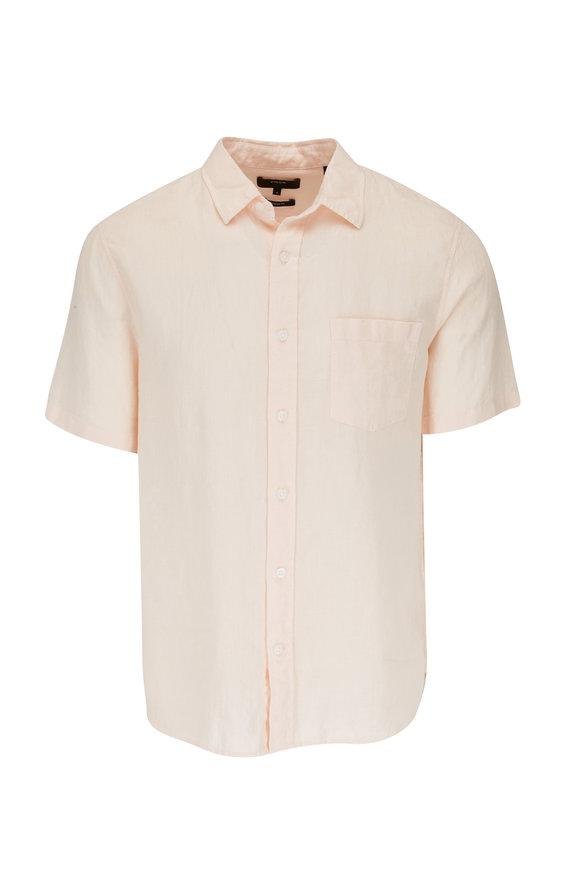 Vince Quartz Linen Short Sleeve Sport Shirt
