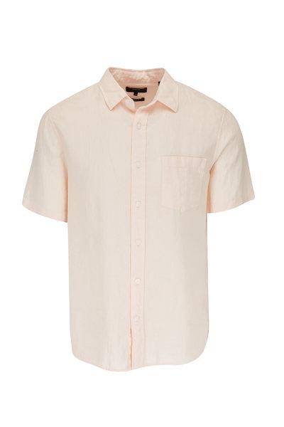 Vince - Quartz Linen Short Sleeve Sport Shirt
