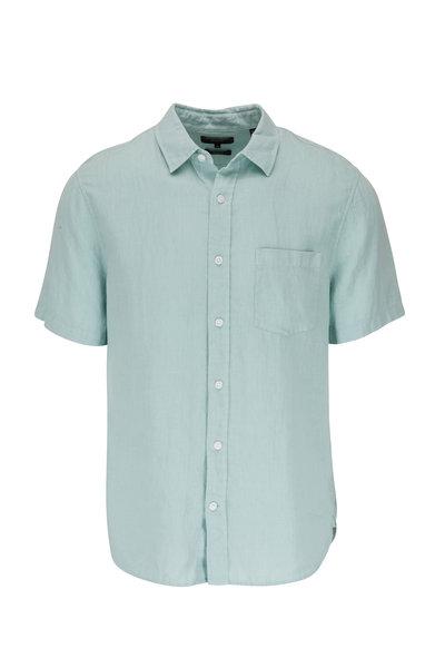 Vince - Poolside Blue Short Sleeve Linen Shirt