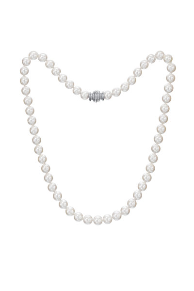 Assael - White Gold Japanese Akoya Pearl Necklace
