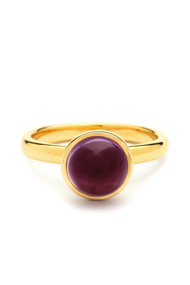Red Rubellite Medium Stacking Ring