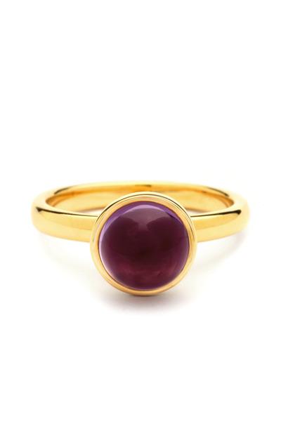 Syna - Red Rubellite Medium Stacking Ring