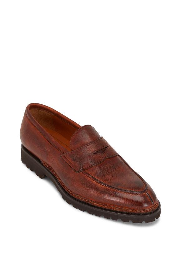 Bontoni Principe Whiskey Soft Calf Leather Loafer