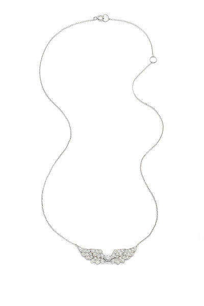 Nam Cho - White Gold Diamond Wing Pendant Necklace