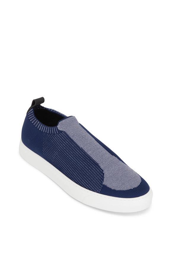 Harrys of London Jaunty Navy & White Tech Leather Mesh Sneaker