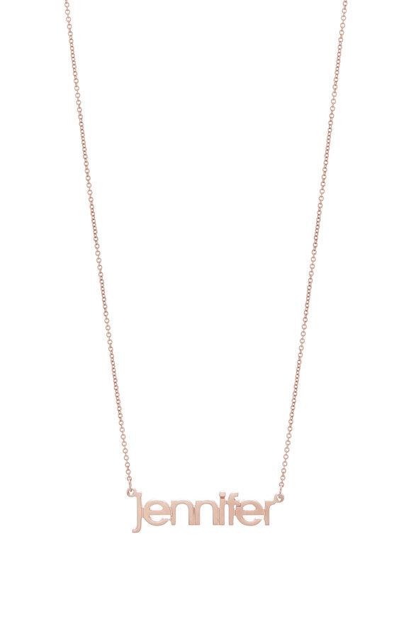 Genevieve Lau 14K Rose Gold Customizable Name Necklace