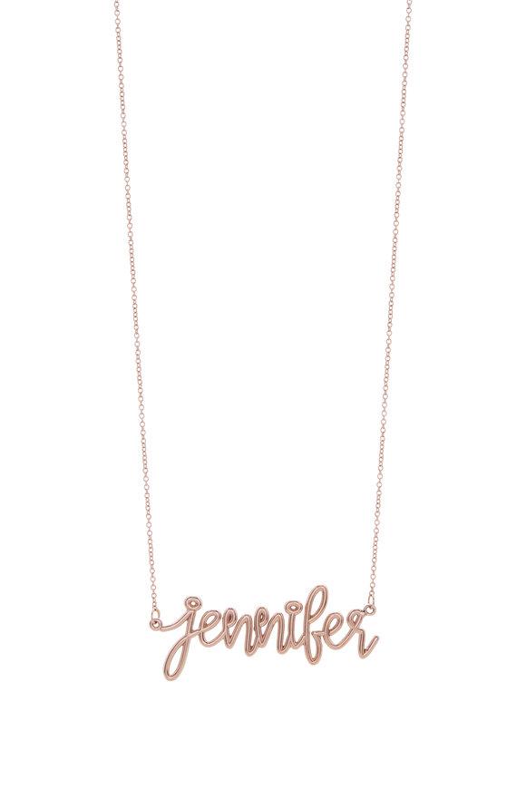 Genevieve Lau 14K Rose Gold Customizable Script Name Necklace