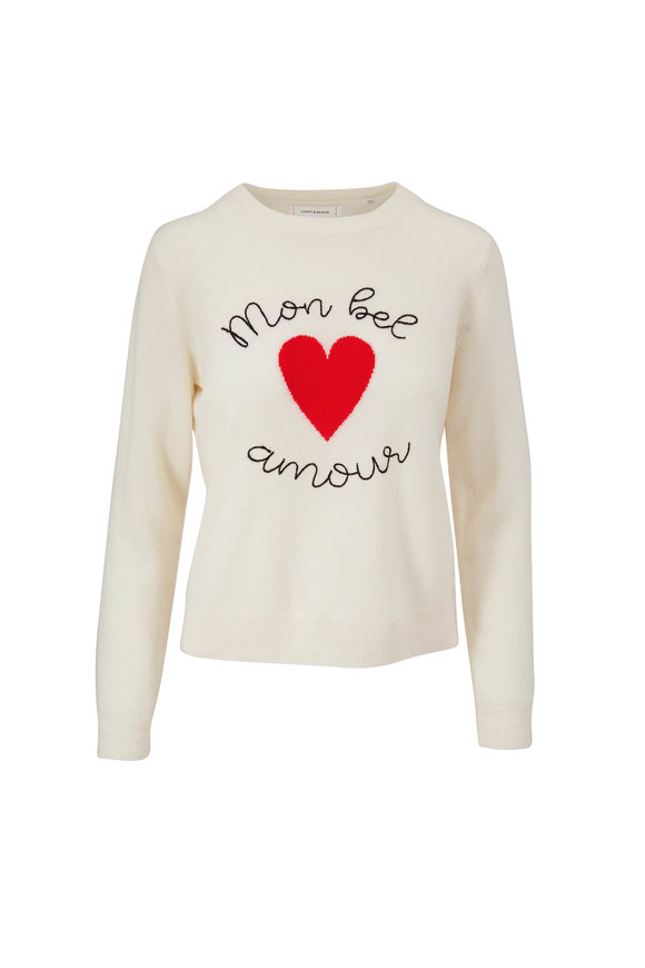 Chinti & Parker Cream Mon Bel Amour Wool & Cashmere Sweater