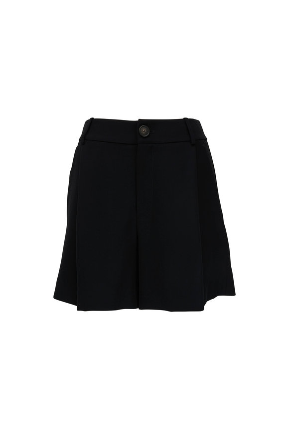 Vince Black Pleat Front Shorts