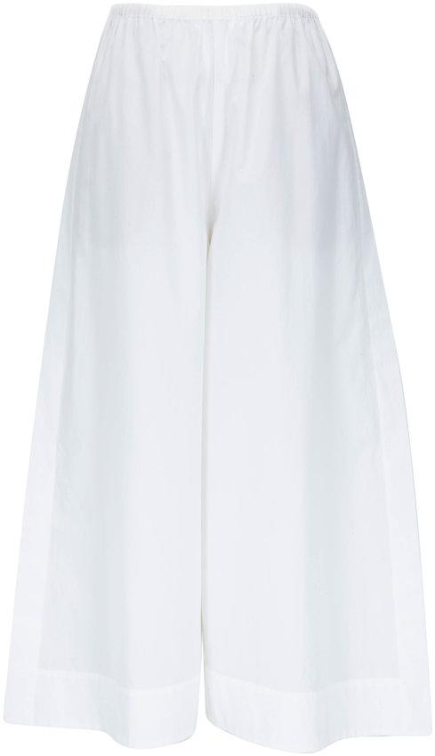 Vince White Side Slit Cotton Culottes