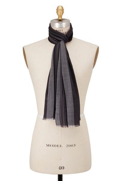 Paul Smith - City Style Gray Stripe Scarf