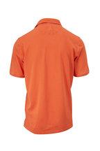 Fedeli - Orange Piqué Short Sleeve Polo