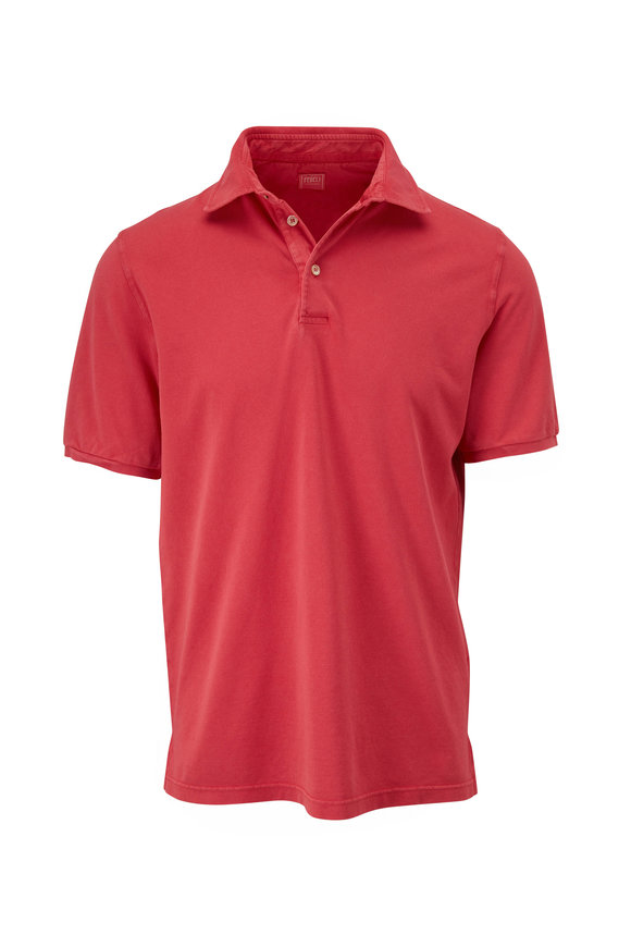 Fedeli Berry Piqué Short Sleeve Polo