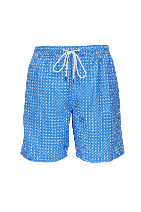 Fedeli Blue Print Swim Trunks