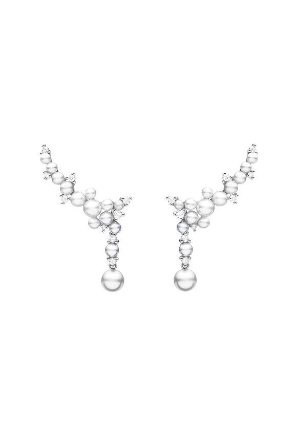 Paul Morelli White Gold Lagrange Pearl Trellis Earrings