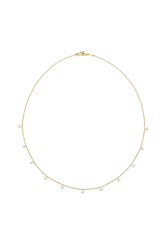 Paul Morelli Yellow Gold Floating Diamond Necklace