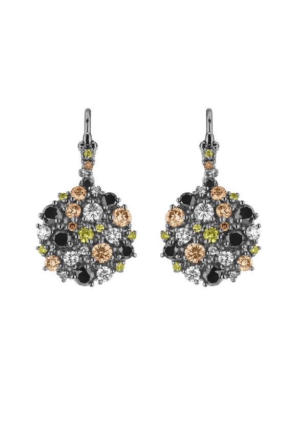 Paul Morelli White Gold Confetti Circle Wire Earrings