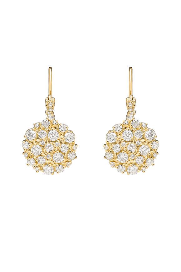 Paul Morelli Yellow Gold Diamond Confetti Circle Earrings