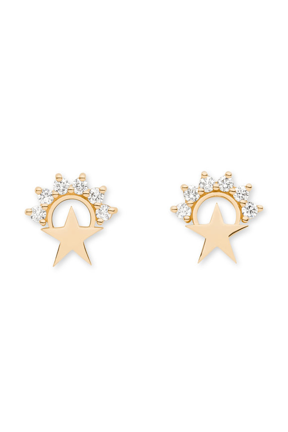 Nouvel Heritage Yellow Gold Mystic Star Studs