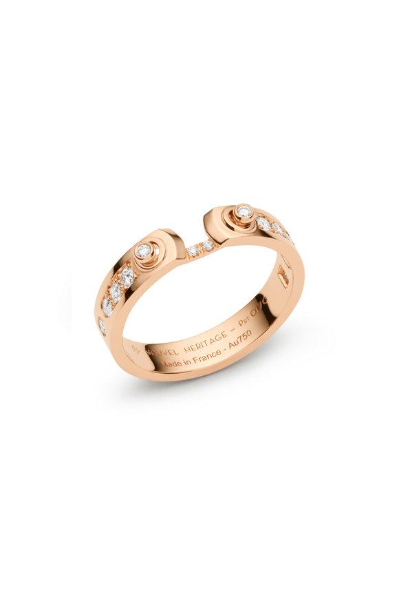Nouvel Heritage Rose Gold Tuxedo Mood Ring