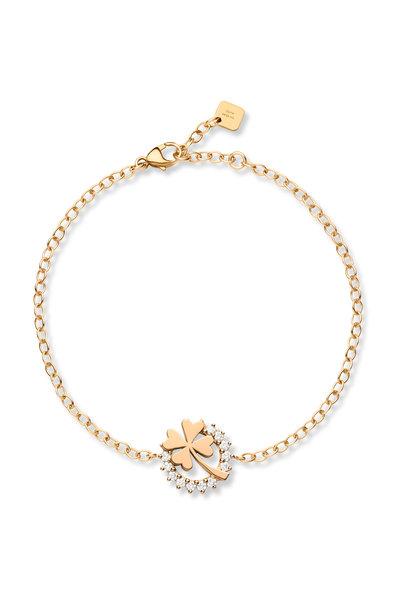 Nouvel Heritage - Rose Gold Diamond Mystic Luck Bracelet