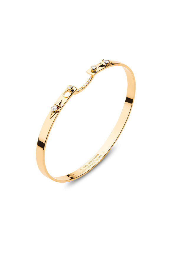 Nouvel Heritage Yellow Gold Reverie Mood Bangle