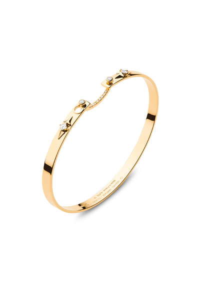 Nouvel Heritage - Yellow Gold Reverie Mood Bangle